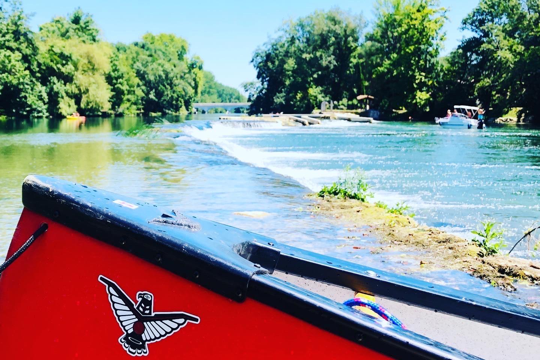 Canoe sur la charente